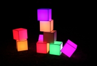 Coloured cube lights